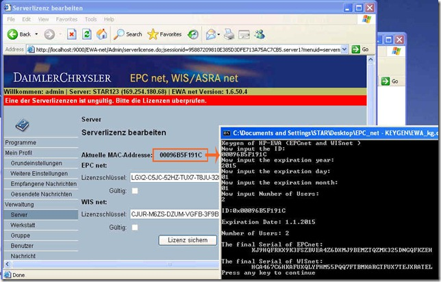 EWA.NET EPC/WIS Keygen Download Link MB Star Diagnosis Software Store MB St